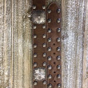 Brown Studs & Conchos Belt