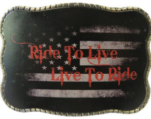 Ride to Live - Wallet Buckle