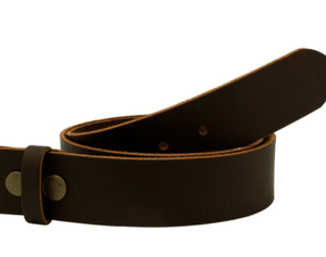 Full Grain Brown Leather Belt - Wallet Buckle