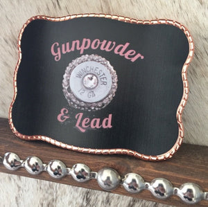 Gunpowder & Lead (Rose Gold Rope)