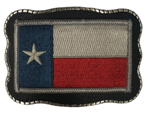 Texas Patch on Leather