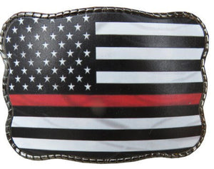 Thin Red Line - Wallet Buckle