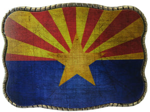 Arizona Flag Rustic - Wallet Buckle