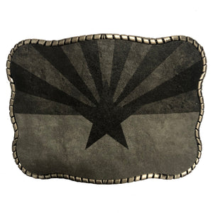 Rustic Black Arizona Flag