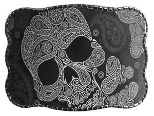 Black & Grey Skull Pattern - Wallet Buckle