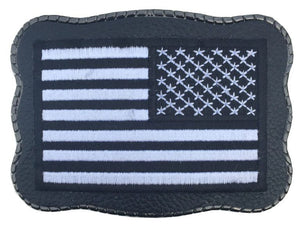 Black Military Flag on Leather