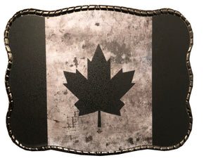 Rustic Black Canadian Flag