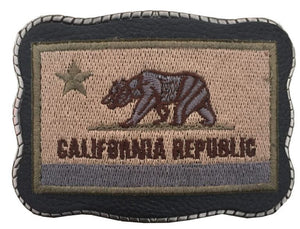 California Patch on Leather