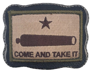 Come & Take It Patch on Leather