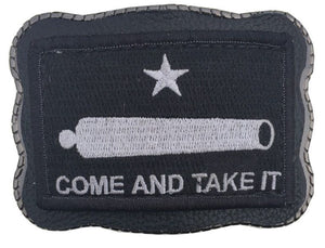 Black Come & Take It Patch on Leather