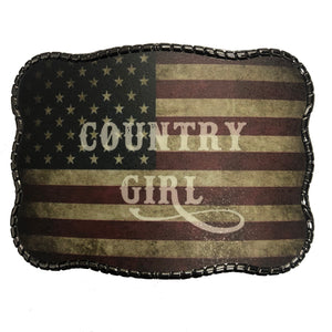 Rustic Flag Country Girl