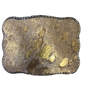 Cow Fur Metallic Gold