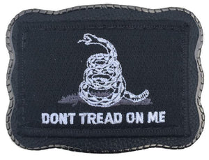 Don't Tread Black Patch on Leather