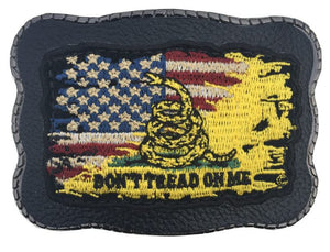 Don't Tread Split Flag Patch on Leather
