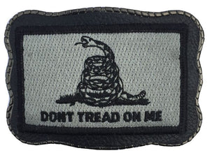 Grey Don't Tread Patch on Leather
