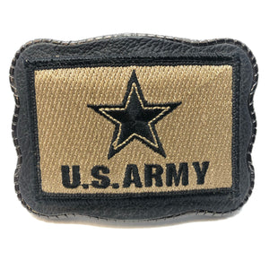 Army Patch on Leather
