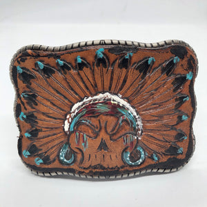 Hand Tooled Leather - Indian Head