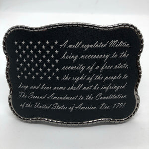 2nd Amendment Flag Writing
