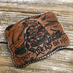 Hand Tooled Leather - Don't Tread on Me