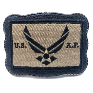Air Force Patch on Leather