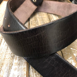 SALE Genuine Dark Brown Leather Belt (SIZE 32)