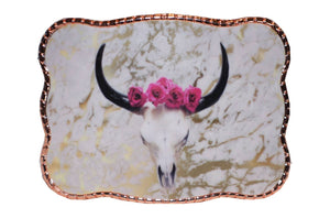 Pink & Gold Cowskull