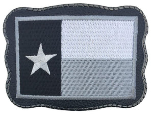 Grey Texas Patch on Leather
