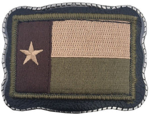 Desert Texas Patch on Leather