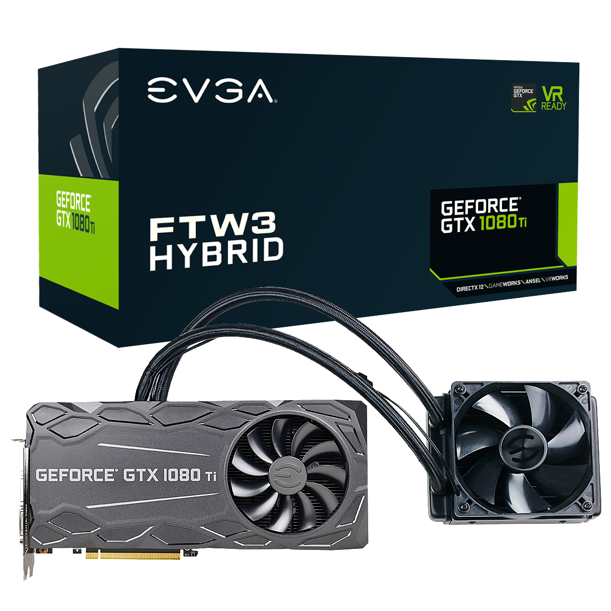 GeForce GTX 1080 Ti FTW3 HYBRID GAMING Graphic Card