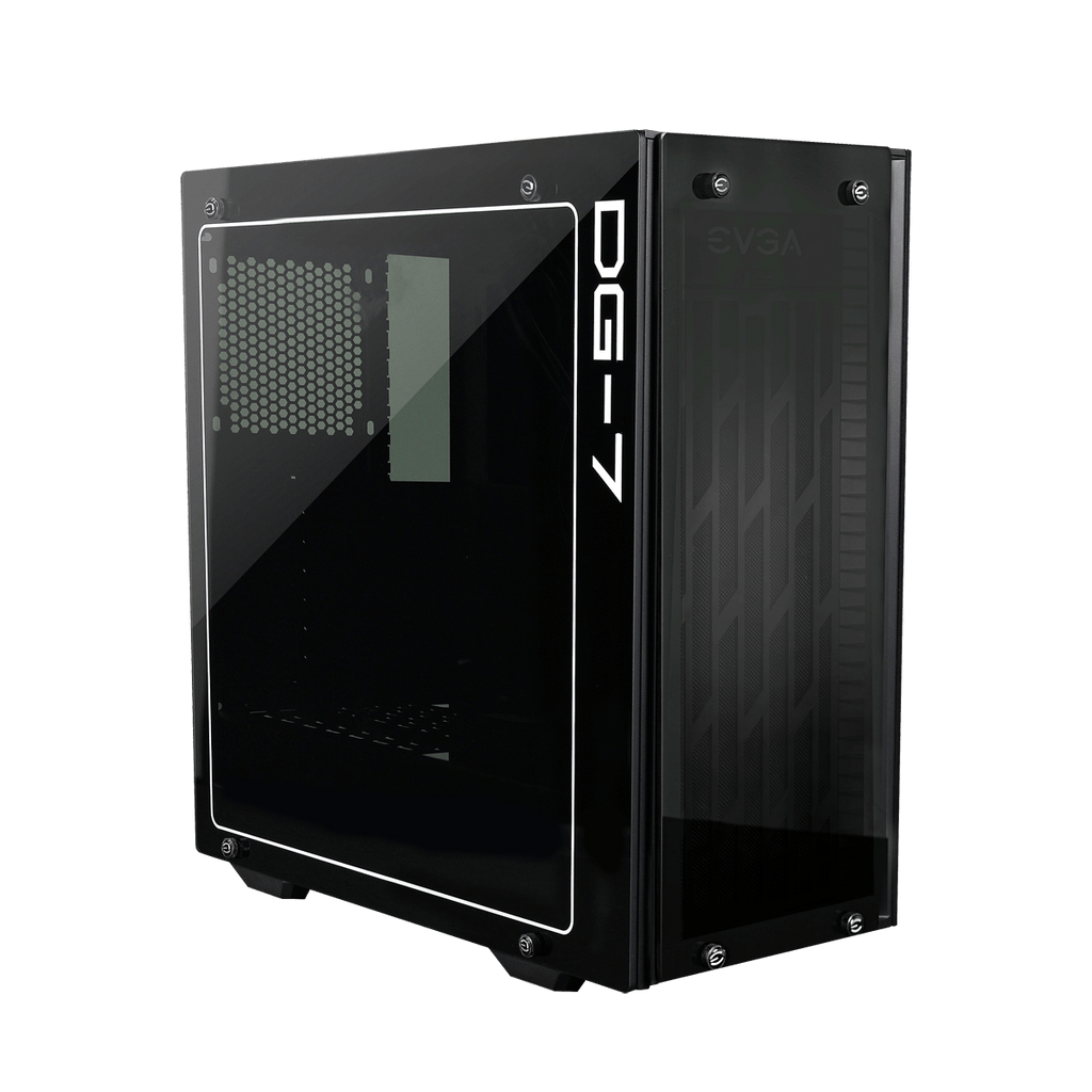 EVGA DG-75 Midi Tower Chassis with Tempered Glass - Matte Black - 150-B0-2020-KR - Core Components by Evga The Chelsea Gamer