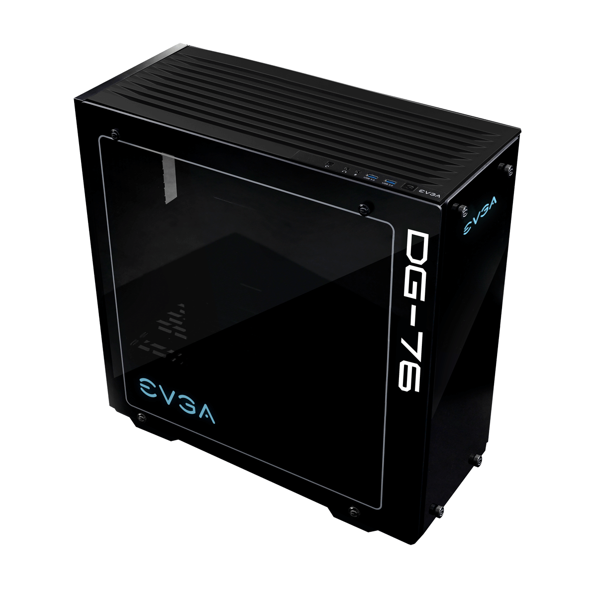 EVGA DG-76 Midi Tower Chasis with Tempered Glass - Matte Black - 160-B0-2230-KR
