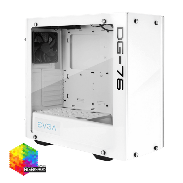 EVGA DG-76 Midi Tower Chasis with Tempered Glass - Alpine White - 166-W1-2232-KR - Core Components by Evga The Chelsea Gamer