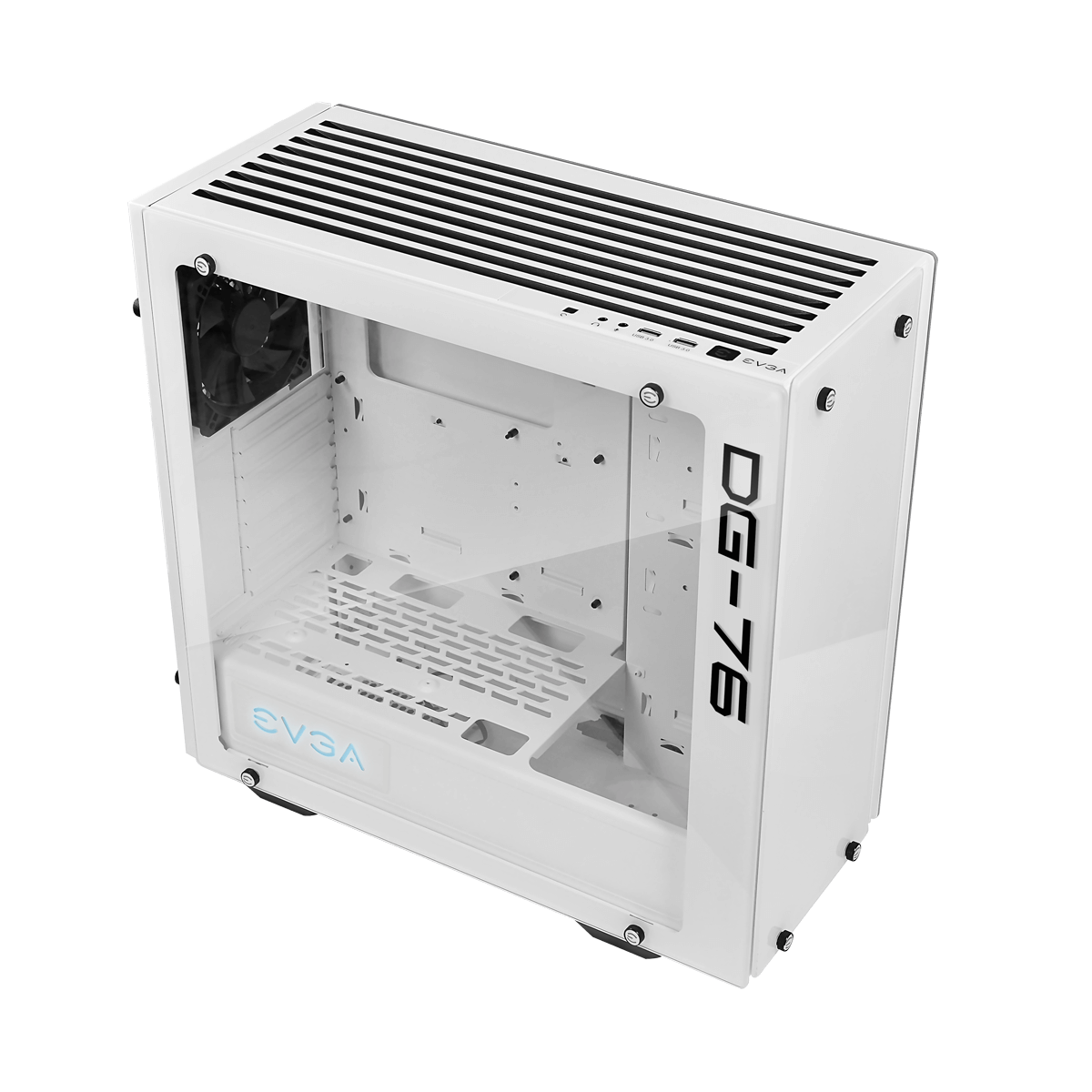 EVGA DG-76 Midi Tower Chasis with Tempered Glass - Alpine White - 166-W1-2232-KR