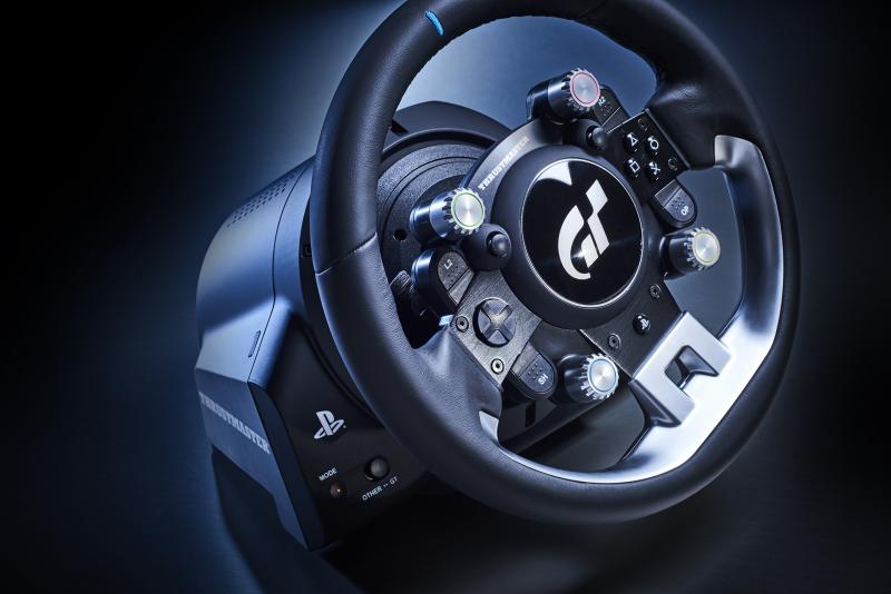 Thrustmaster T-GT: PS4 and Gran Turismo Officially Licensed Leather-Wrapped Racing Wheel and Compatible with PC