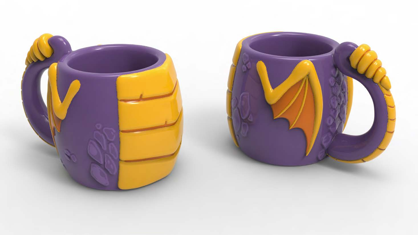 3D Novelty Spyro Mug