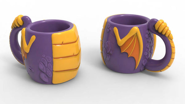 3D Novelty Spyro Mug - merchandise by Rubber Road The Chelsea Gamer