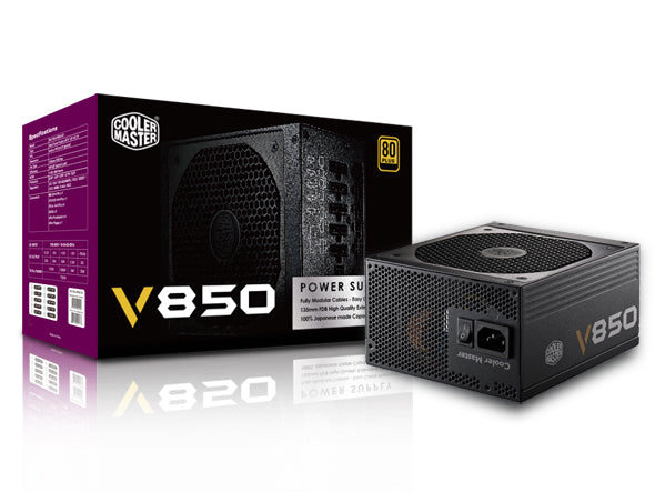Cooler Master Vanguard V 850W 80plus Gold Power Supply Unit Fully Modular with 100% Japanese Capacitor and UK Cable - Core Components by Cooler Master The Chelsea Gamer