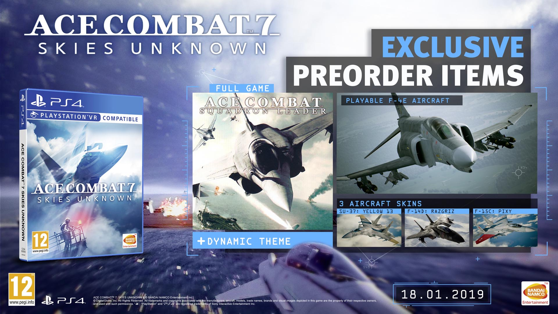 Ace Combat 7 Skies Unknown - PS4 - Video Games by Bandai Namco Entertainment The Chelsea Gamer
