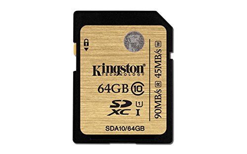 Kingston Technology SDA10/64GB 64GB UHS-I Ultimate Flash Card - Memory by Kingston The Chelsea Gamer