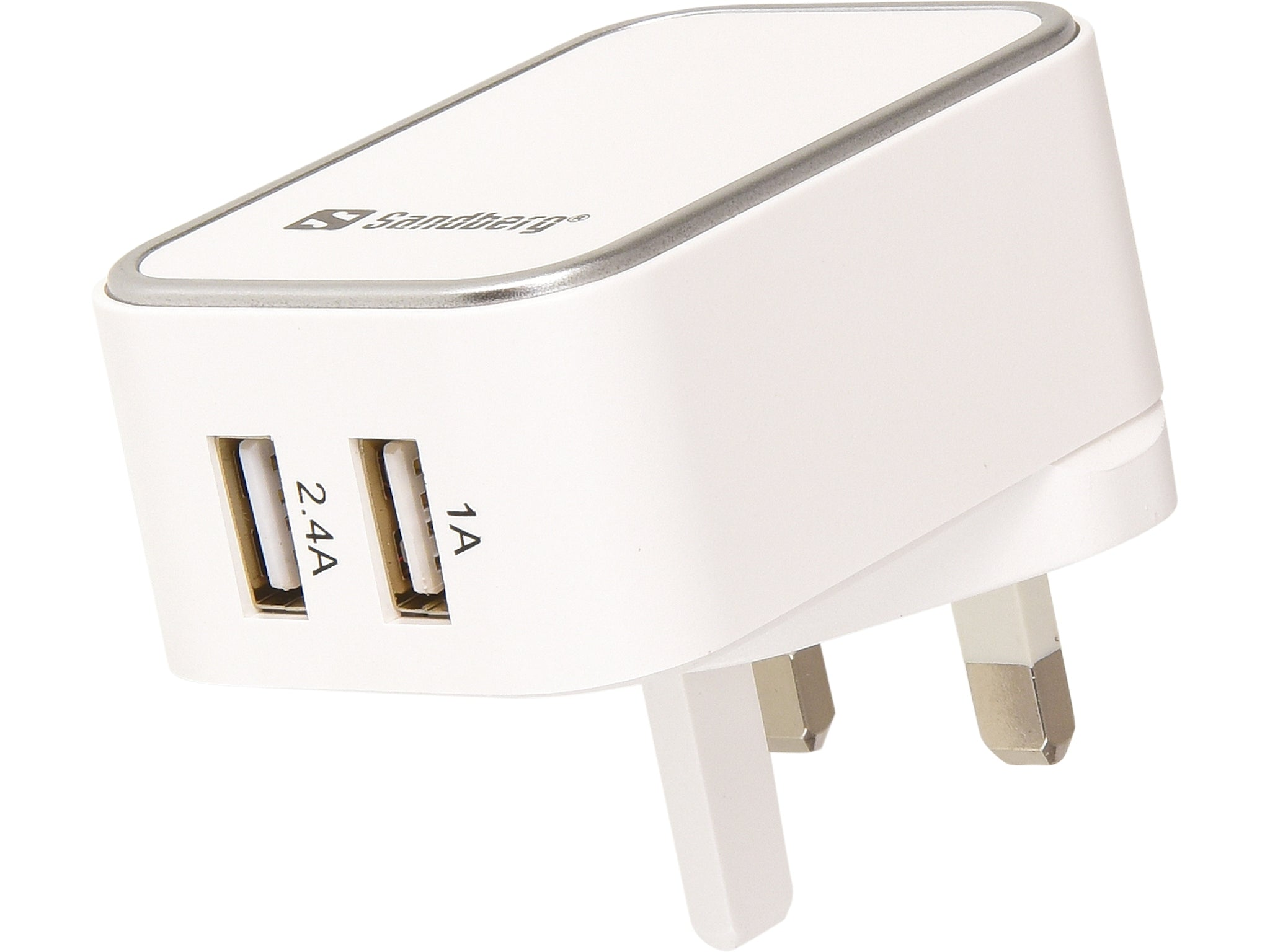Sandberg 440-58 2.4/1 A Dual USB AC Charger - Cables by Sandberg The Chelsea Gamer