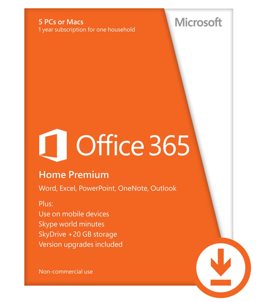 Microsoft® Office Home Premium – 5 PCs or Macs - 1 year – Download