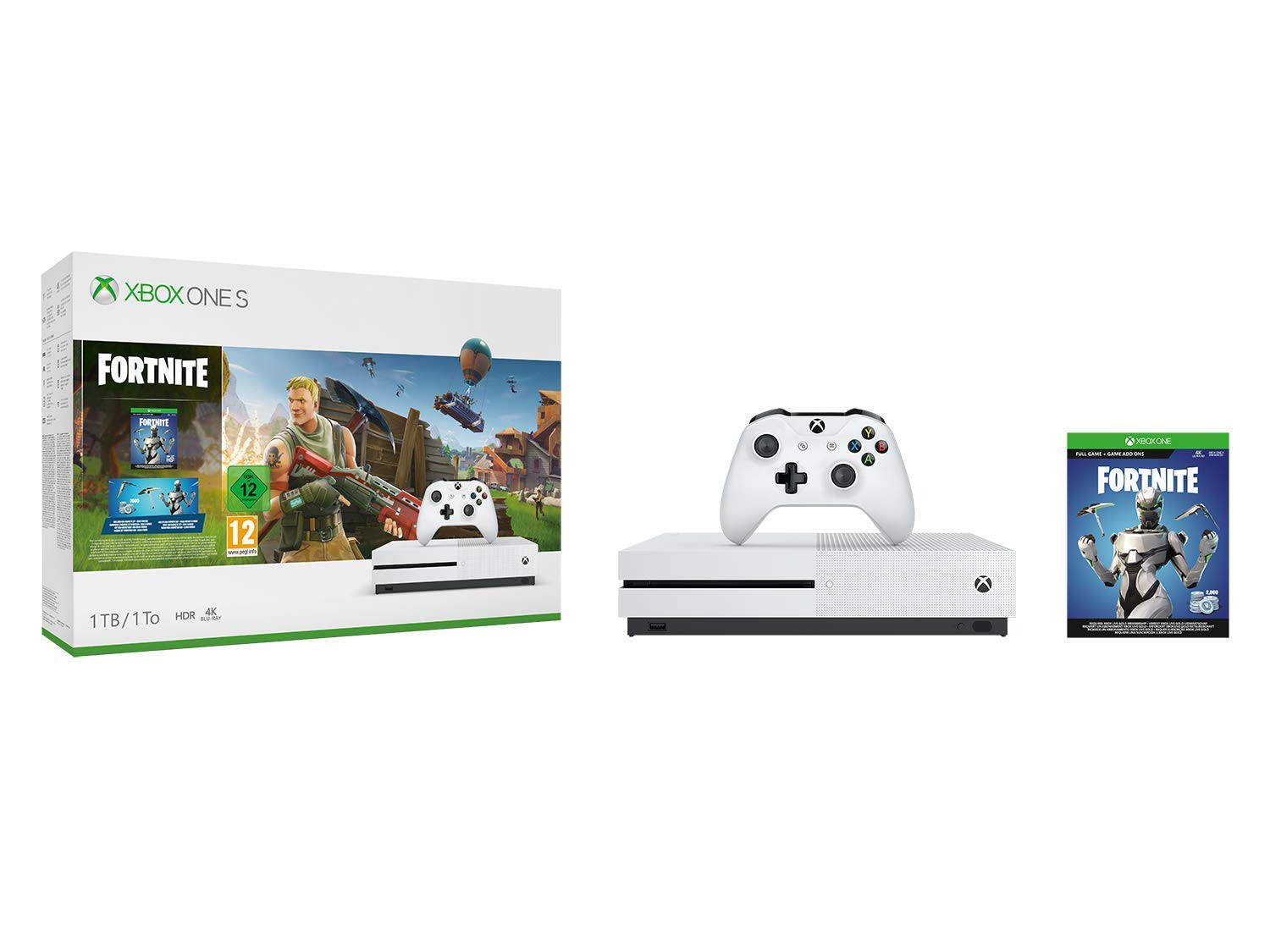Xbox One S 1TB console Fortnite bundle