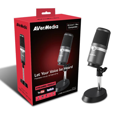 AVermedia USB Microphone AM310 - Core Components by AverMedia The Chelsea Gamer