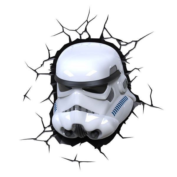 3D Light FX 50028 Star Wars Stormtrooper 3D Deco Light, Plastic, White/Blue/Black - Lighting by 3D Light FX The Chelsea Gamer