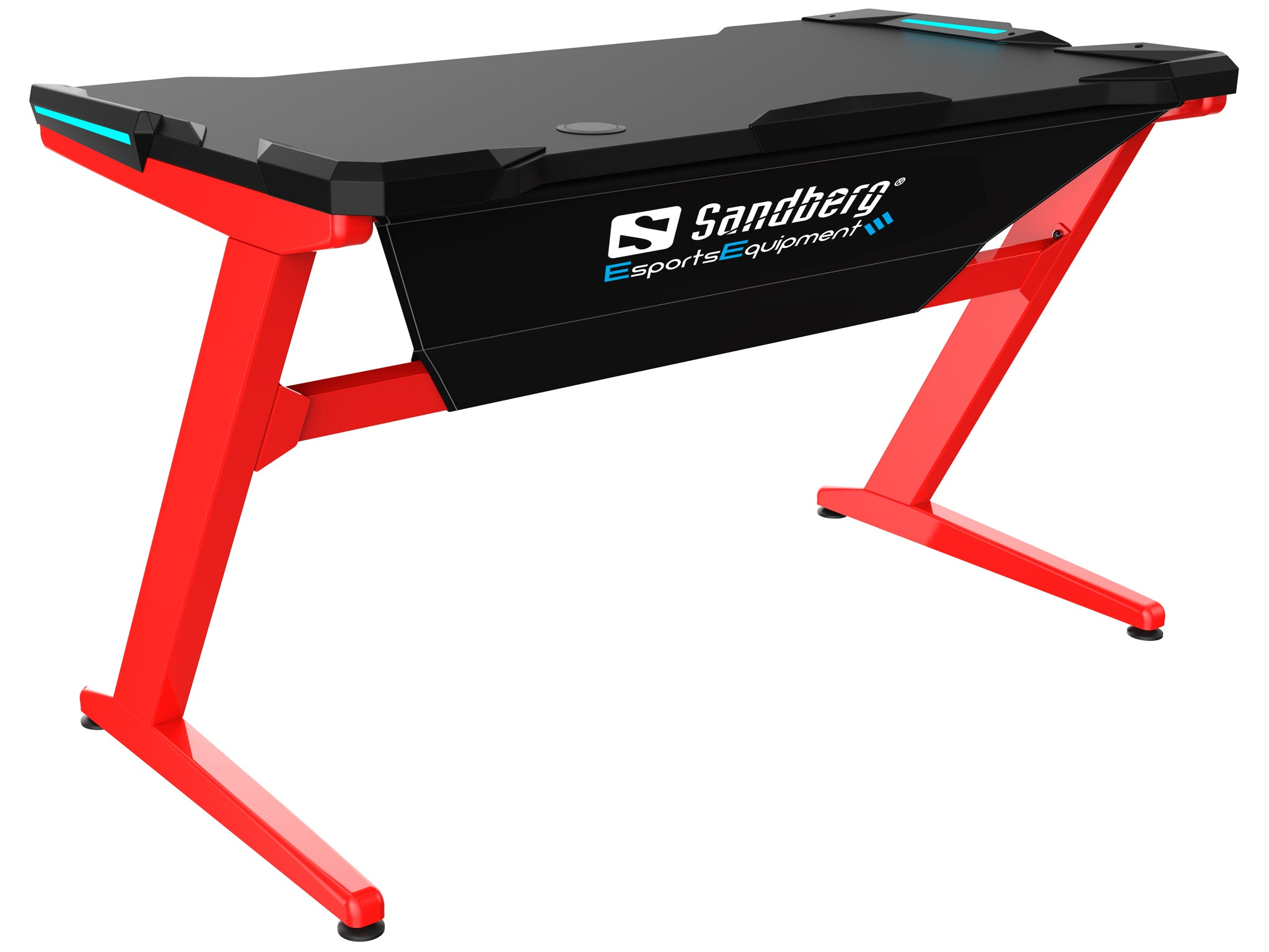 Sandberg Fighter Gaming Desk, Red