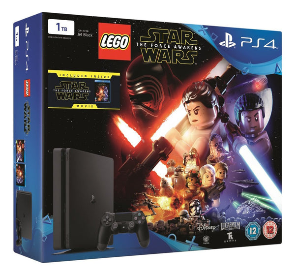 Sony PlayStation 4 1TB Console with LEGO Star Wars: The Force Awakens Game + Blu-Ray Movie - Console pack by Sony The Chelsea Gamer