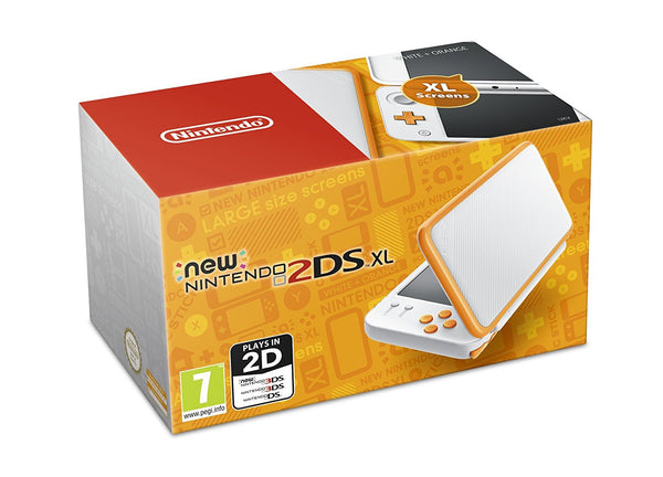 New 2DS XL Console - Orange & White