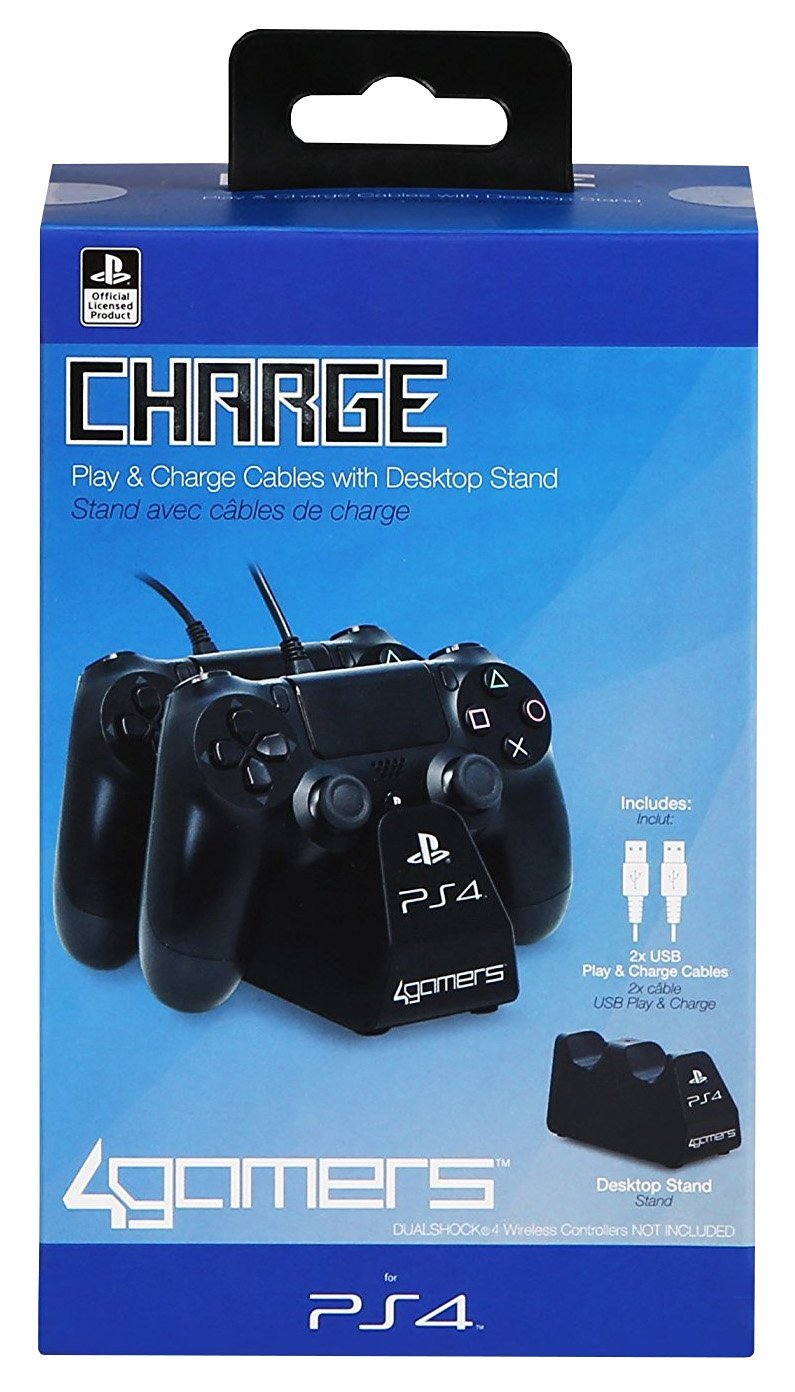 Officially Licensed Dual Controller Stand with Twin USB Charging Cables - A4T
