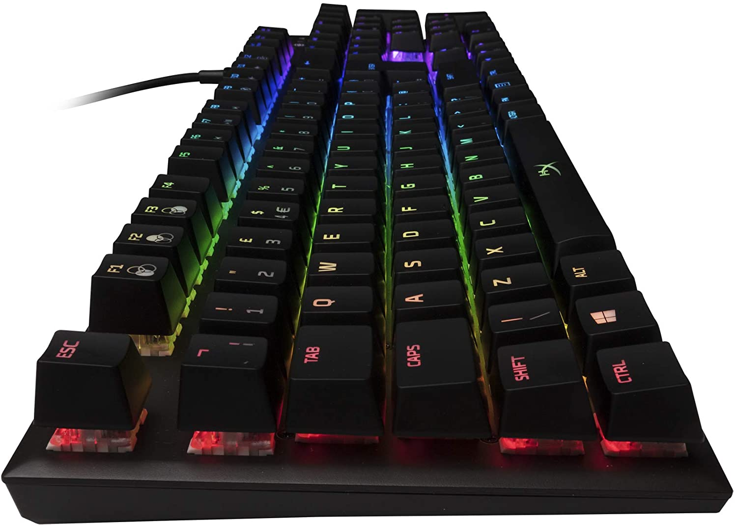 HyperX Alloy FPS RGB USB RGB LED Gaming Keyboard with Mechanical Kailh Silver Speed Switches