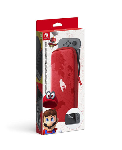 Nintendo Switch Accessory Set (Carry Case + Screen Protector) - Super Mario Odyssey Edition